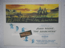 The Searchers, Original HS Poster, John Wayne Classic, John Ford directed, '56